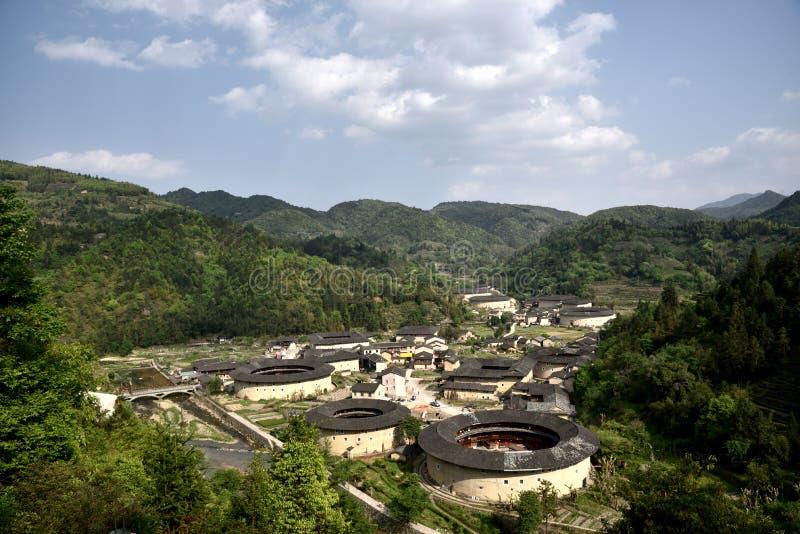 Περιοχή NaJing tulou Fujian στην Κίνα στοκ εικόνες με δικαίωμα ελεύθερης χρήσης