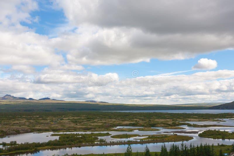 Περιοχή Thingvellir, διάσημο ισλανδικό ορόσημο Χρυσός κύκλος στοκ εικόνες με δικαίωμα ελεύθερης χρήσης