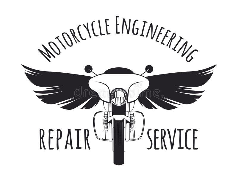 Περιοδεύοντας έμβλημα μοτοσικλετών διανυσματική απεικόνιση
