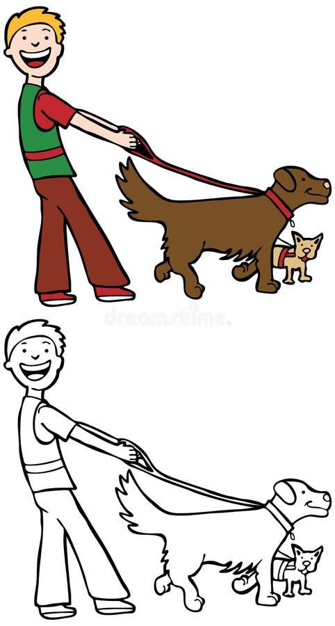 περιπατητής σκυλιών ελεύθερη απεικόνιση δικαιώματος