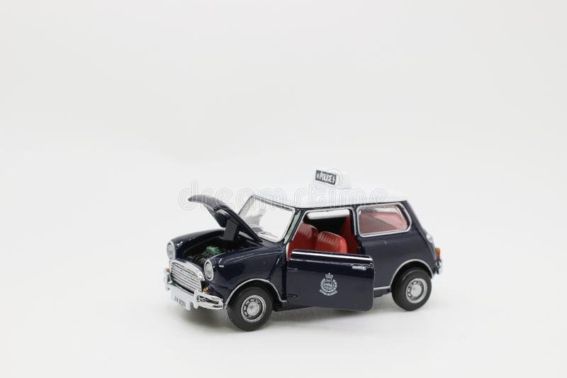 περιπολικό της Αστυνομίας της κλίμακας του Mini Cooper στοκ φωτογραφίες με δικαίωμα ελεύθερης χρήσης
