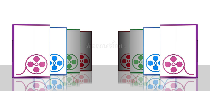 περιπτώσεις dvd καθρέφτης τ&epsi ελεύθερη απεικόνιση δικαιώματος