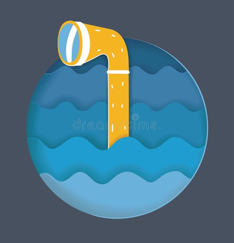 Περισκόπιο στα κύματα θάλασσας απεικόνιση αποθεμάτων