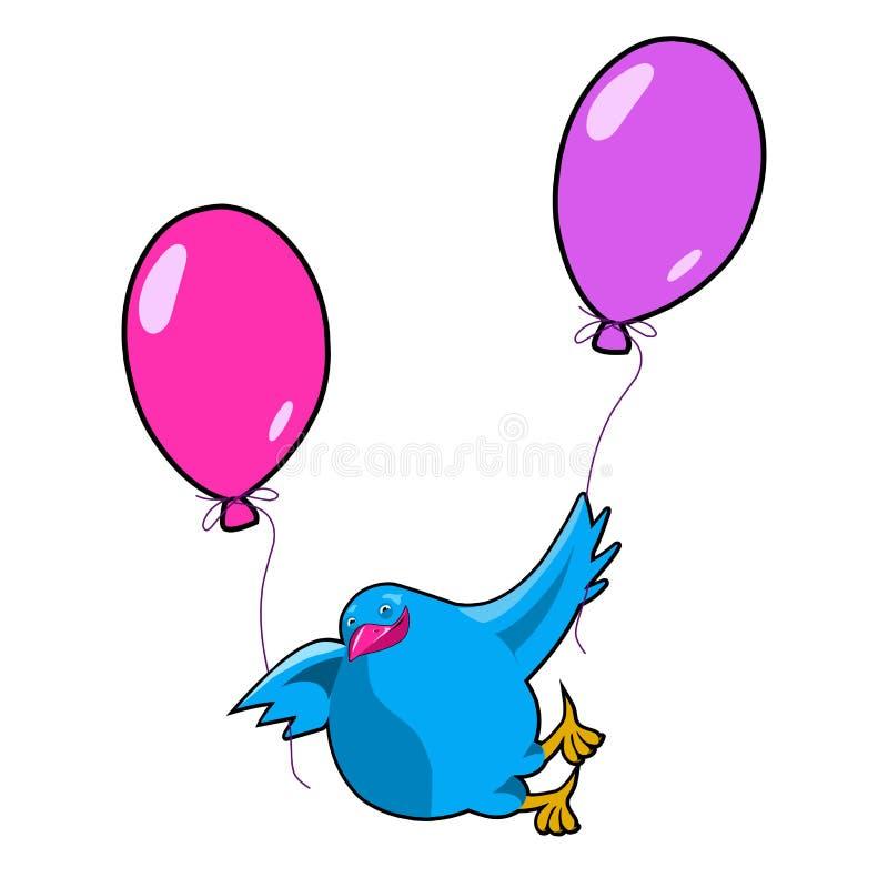 Περιστέρι απεικόνισης αποθεμάτων στα μπαλόνια διανυσματική απεικόνιση