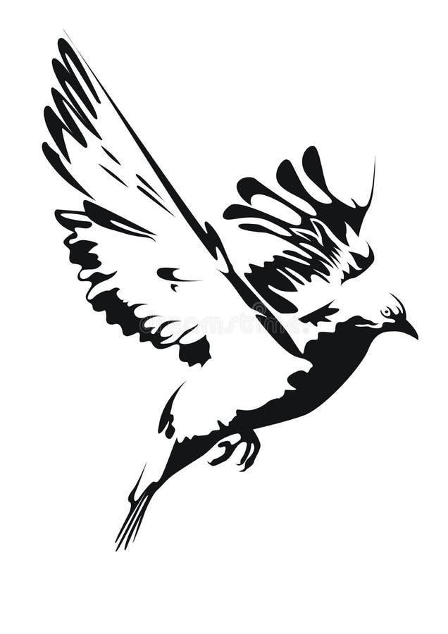 περιστέρι ειρήνης διανυσματική απεικόνιση