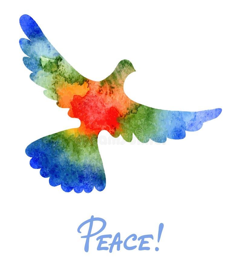 Περιστέρι της ειρήνης απεικόνιση αποθεμάτων