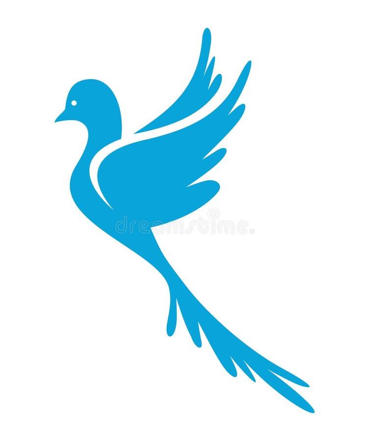 Περιστέρι του διανυσματικού εικονιδίου ειρήνης απεικόνιση αποθεμάτων