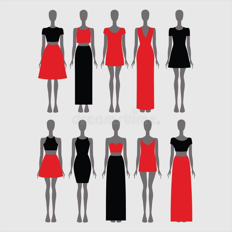 περιστασιακή ένδυση γυναικών φούστα Φόρεμα κορυφή blowgun Πουκάμισο ελεύθερη απεικόνιση δικαιώματος