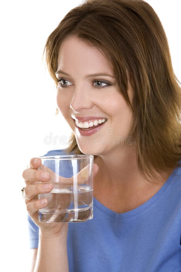 περιστασιακή γυναίκα ύδα στοκ εικόνες