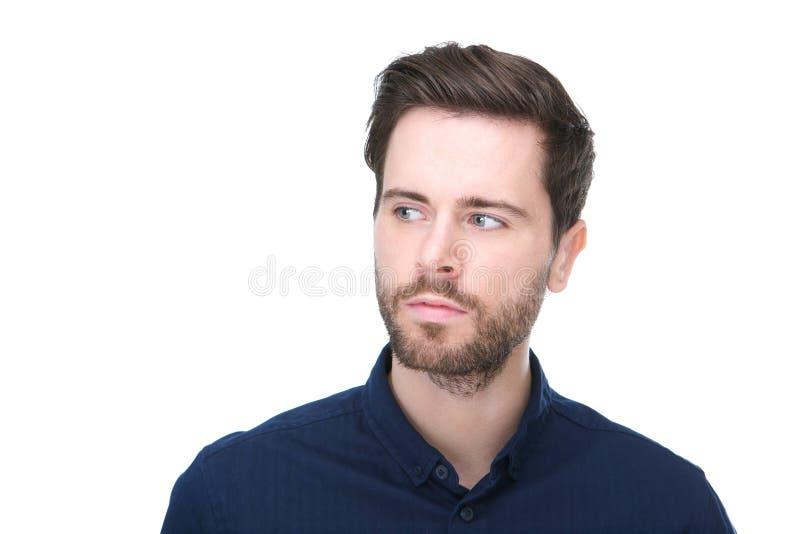 Περιστασιακό άτομο με το μπλε πουκάμισο στοκ εικόνες με δικαίωμα ελεύθερης χρήσης