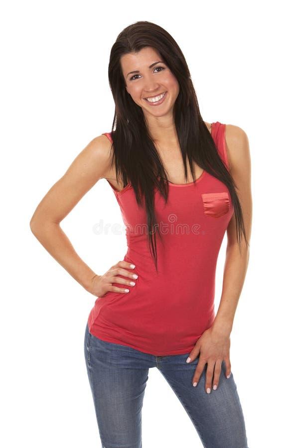 Περιστασιακό brunette στοκ εικόνες