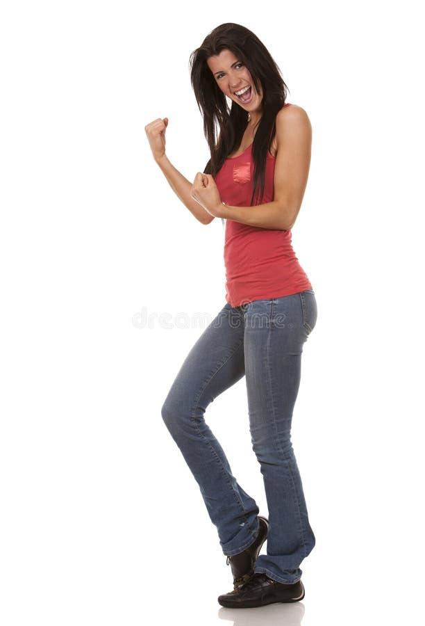 Περιστασιακό brunette στοκ εικόνα με δικαίωμα ελεύθερης χρήσης