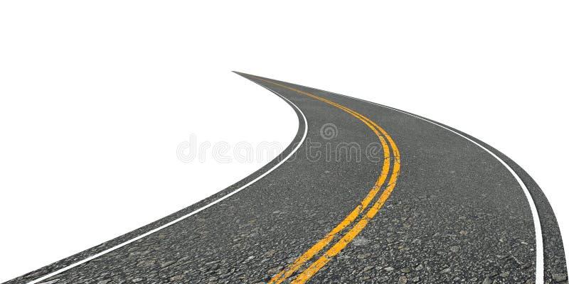 Περιστραφείτε το δρόμο διανυσματική απεικόνιση