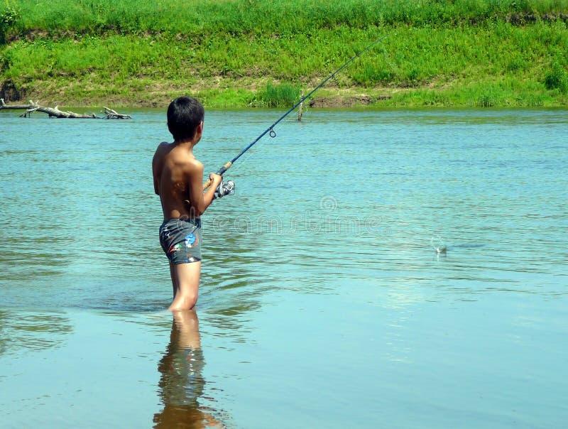 περιστροφή αλιείας αγο&rh στοκ εικόνες