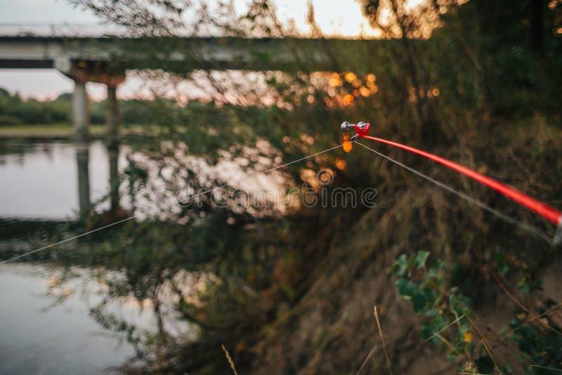 Περιστροφή αλιείας Ποταμός ατρόπων Μπλε woter στοκ φωτογραφία με δικαίωμα ελεύθερης χρήσης