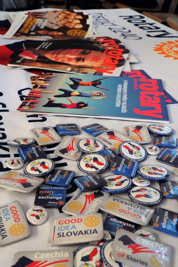 Περιστροφική περιοχή 2240 περιοδικά και καρφίτσες στοκ φωτογραφία με δικαίωμα ελεύθερης χρήσης