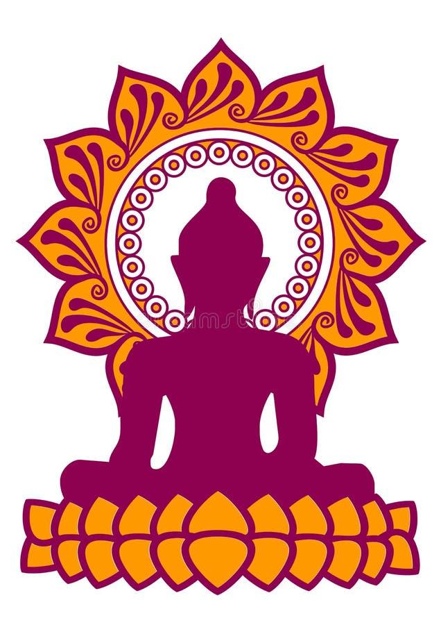 Περισυλλογή - Βούδας - λουλούδι Lotus διανυσματική απεικόνιση