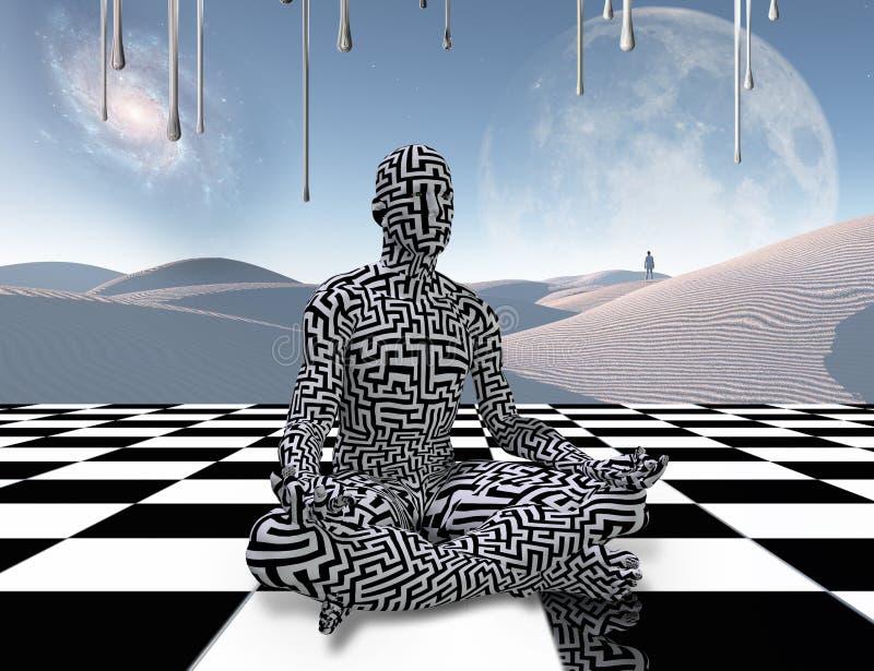 Περισυλλογή σε μια σκακιέρα διανυσματική απεικόνιση