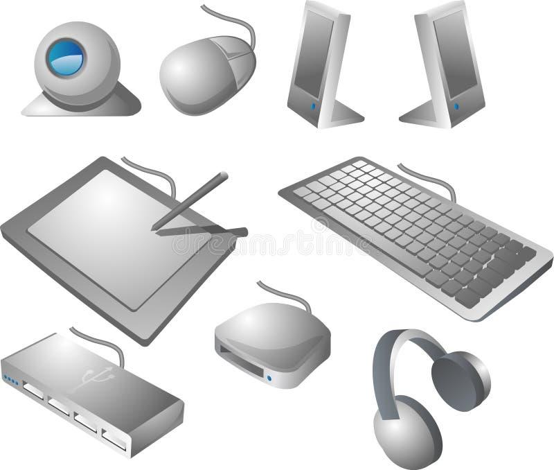περιφερειακές μονάδες υπολογιστών διανυσματική απεικόνιση