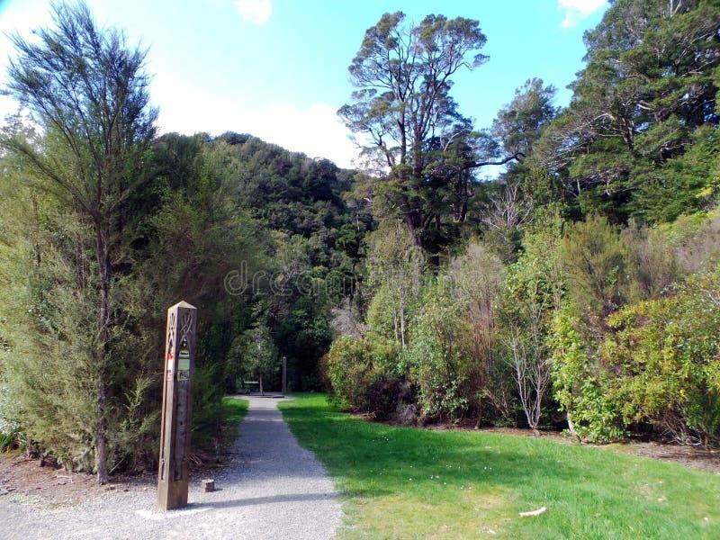 Περιφερειακό πάρκο Kaitoke, ο Άρχοντας των δαχτυλιδιών Rivendell, Νέα Ζηλανδία στοκ εικόνα με δικαίωμα ελεύθερης χρήσης
