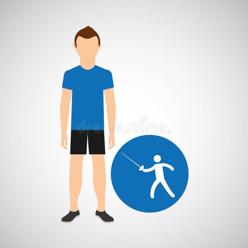 Περιφράζοντας αθλητισμός ατόμων αθλητών γραφικός διανυσματική απεικόνιση