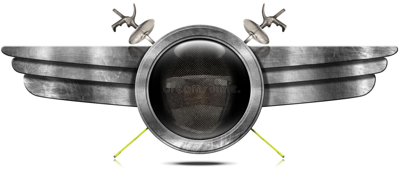 Περιφράζοντας αθλητισμός - σύμβολο μετάλλων με τα φτερά ελεύθερη απεικόνιση δικαιώματος
