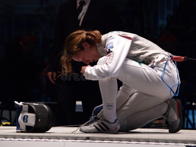 περιφράζοντας κόσμος vezzali πρωταθλήματος του 2006 στοκ εικόνες