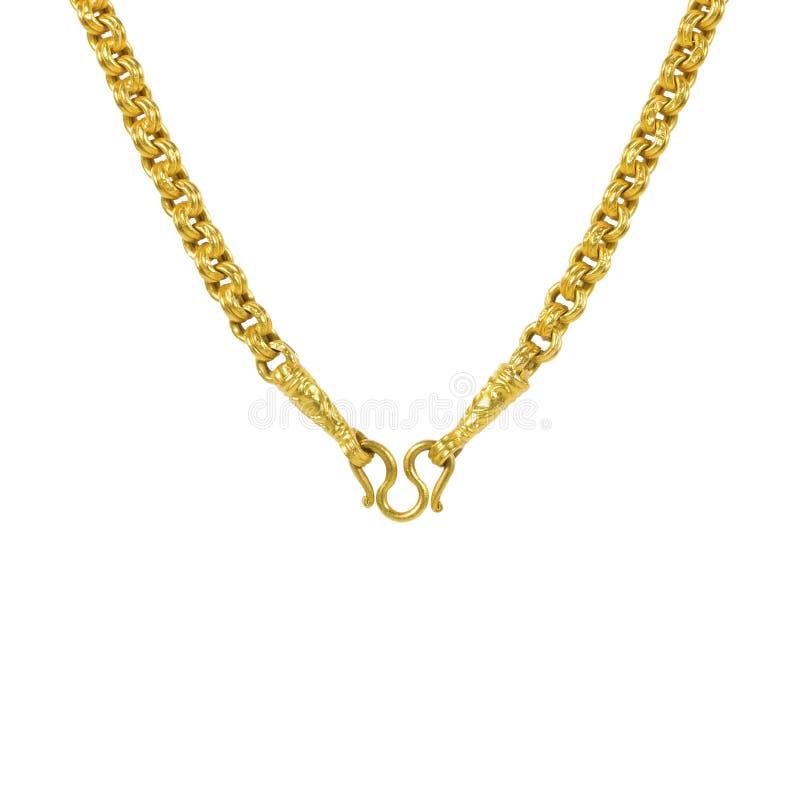 Περιδέραιο που απομονώνεται χρυσό στο λευκό στοκ εικόνα