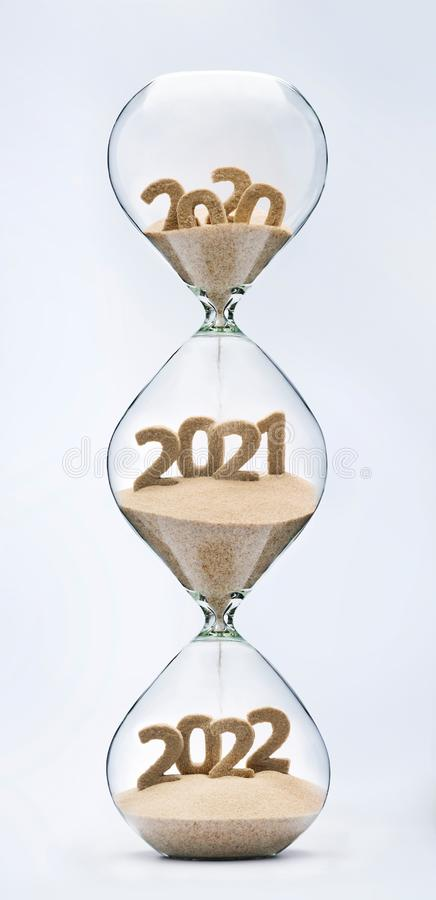 Περνώντας στο νέο έτος 2021, 2022 στοκ εικόνα με δικαίωμα ελεύθερης χρήσης