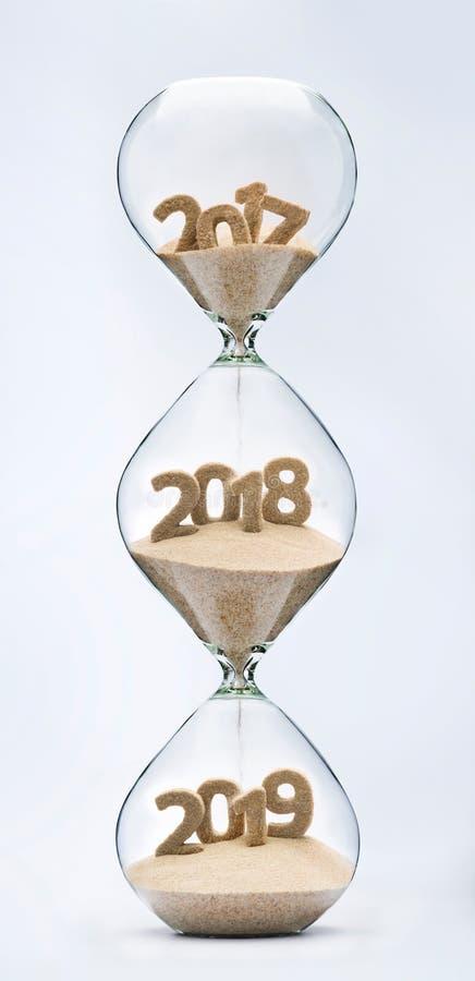 Περνώντας στο νέο έτος 2018, 2019 στοκ φωτογραφία με δικαίωμα ελεύθερης χρήσης