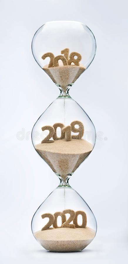 Περνώντας στο νέο έτος 2019, 2020 στοκ εικόνες