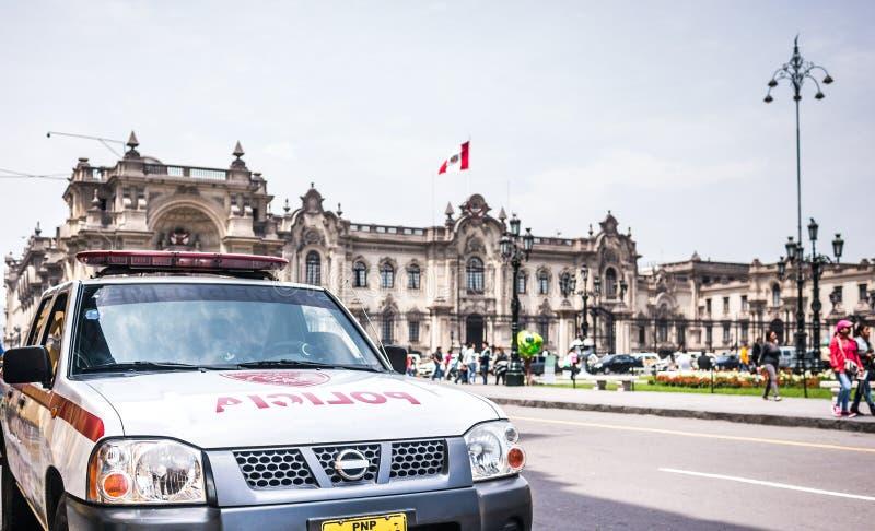 περουβιανή αστυνομία στοκ φωτογραφία