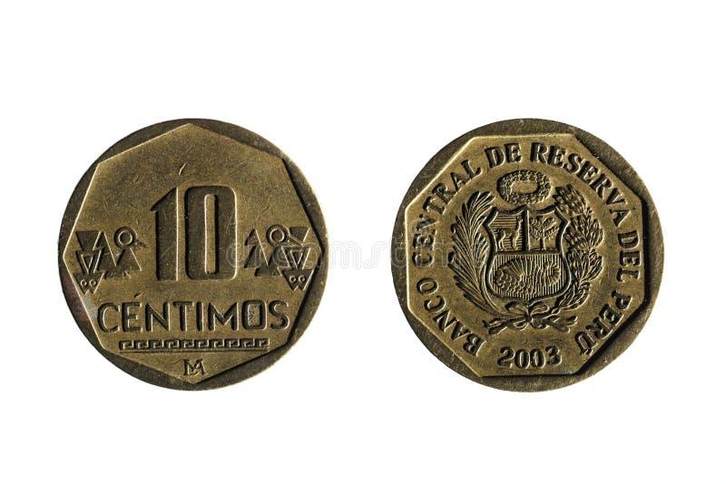 Περουβιανό νόμισμα δέκα σεντ στοκ φωτογραφίες με δικαίωμα ελεύθερης χρήσης