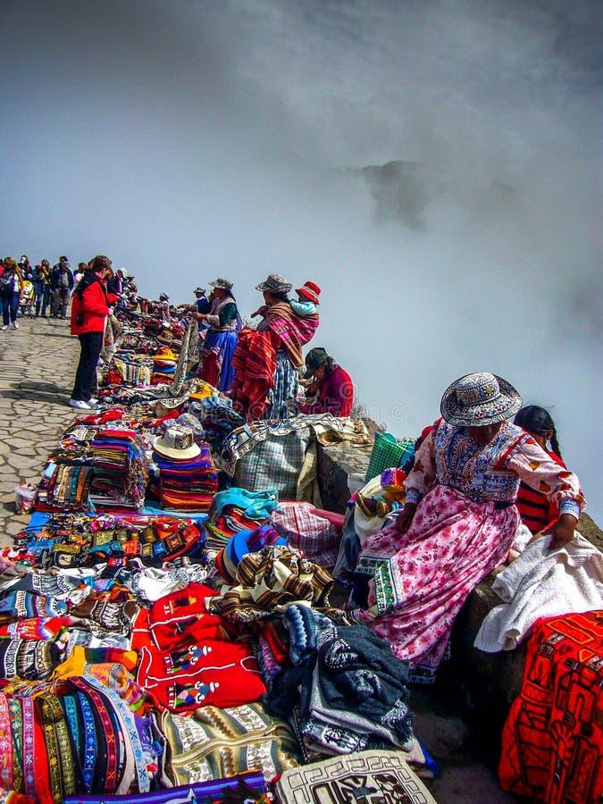 Περουβιανό φαράγγι Περού colca τουριστών αγοράς στοκ εικόνα με δικαίωμα ελεύθερης χρήσης