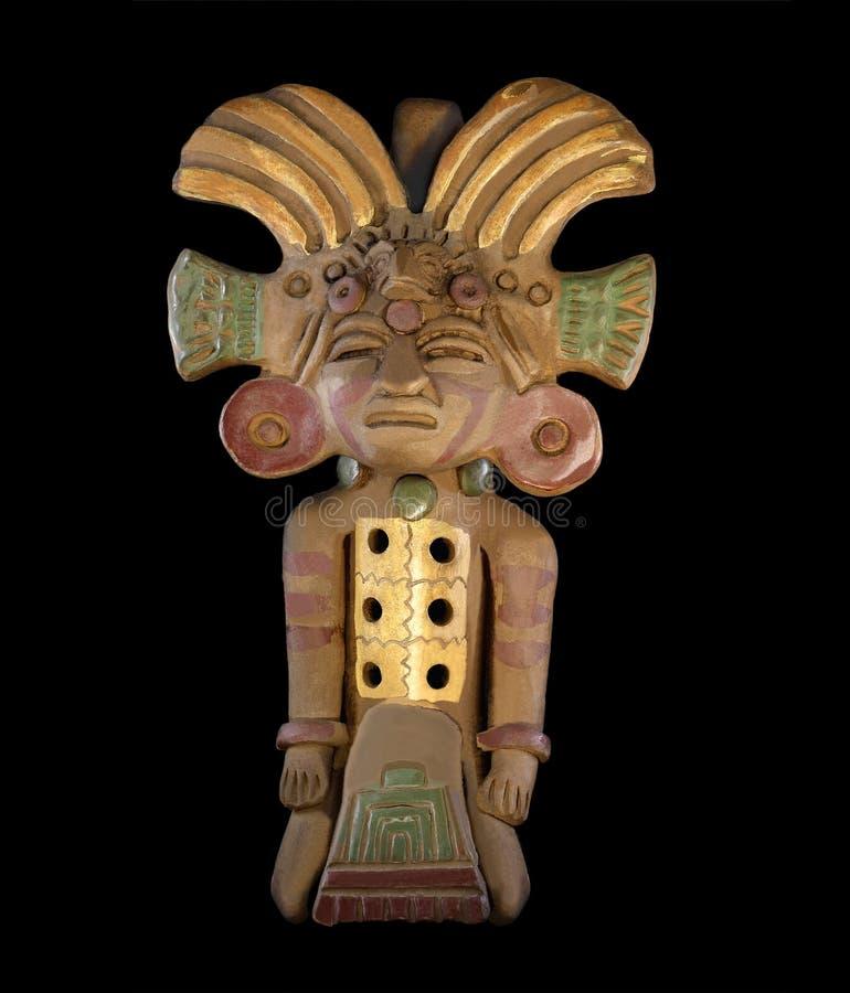 Περού, κεραμική, φλάουτο, statuette στοκ εικόνα