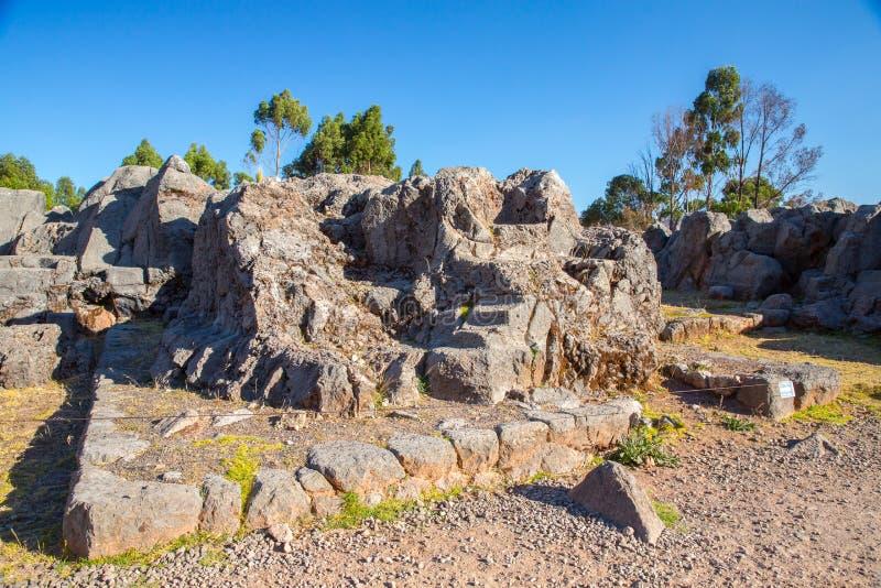 Περού, Qenko, που βρίσκεται στο αρχαιολογικό πάρκο Saqsaywaman. Νότια Αμερική. στοκ φωτογραφία με δικαίωμα ελεύθερης χρήσης