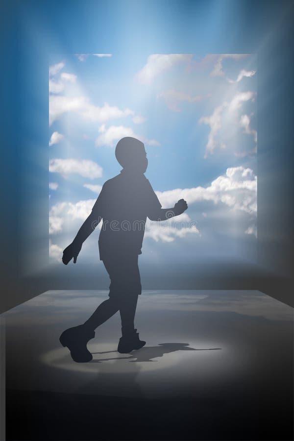 περπάτημα ονείρου παιδιών απεικόνιση αποθεμάτων