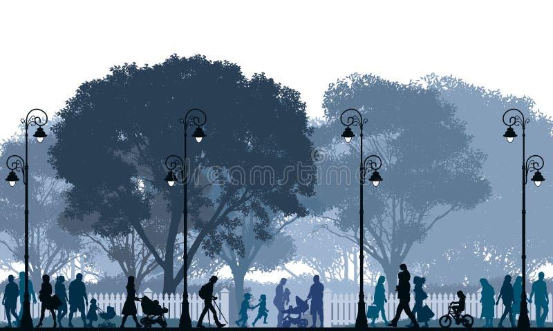 περπάτημα πλήθους διανυσματική απεικόνιση