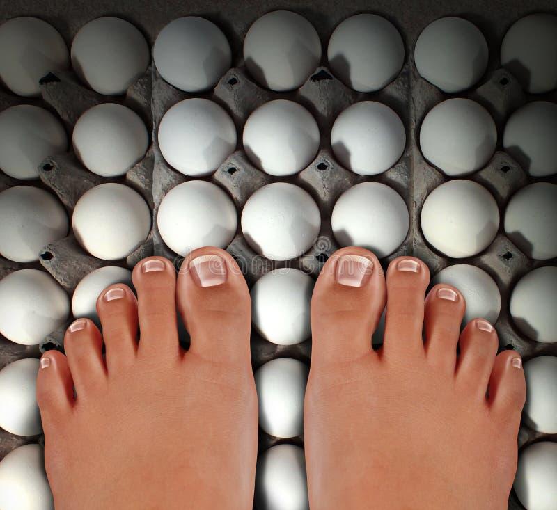 Περπάτημα στα αυγά απεικόνιση αποθεμάτων