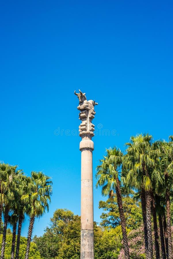 Περσική στήλη στο Μπουένος Άιρες, Αργεντινή στοκ φωτογραφία με δικαίωμα ελεύθερης χρήσης