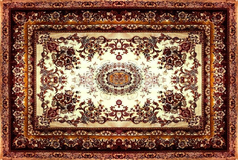 Περσική σύσταση ταπήτων, αφηρημένη διακόσμηση Στρογγυλό σχέδιο mandala, Μεσο-Ανατολική παραδοσιακή σύσταση υφάσματος ταπήτων Τυρκ στοκ εικόνες με δικαίωμα ελεύθερης χρήσης