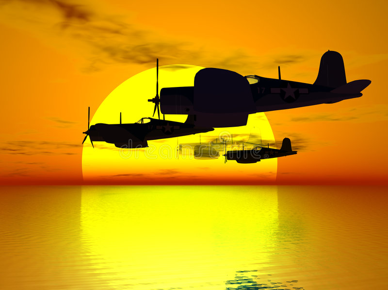 πεσμένο ιπτάμενο στο φόρο απεικόνιση αποθεμάτων