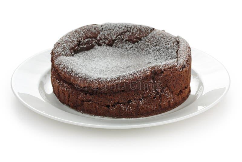 πεσμένο σοκολάτα souffle κέικ στοκ φωτογραφίες με δικαίωμα ελεύθερης χρήσης