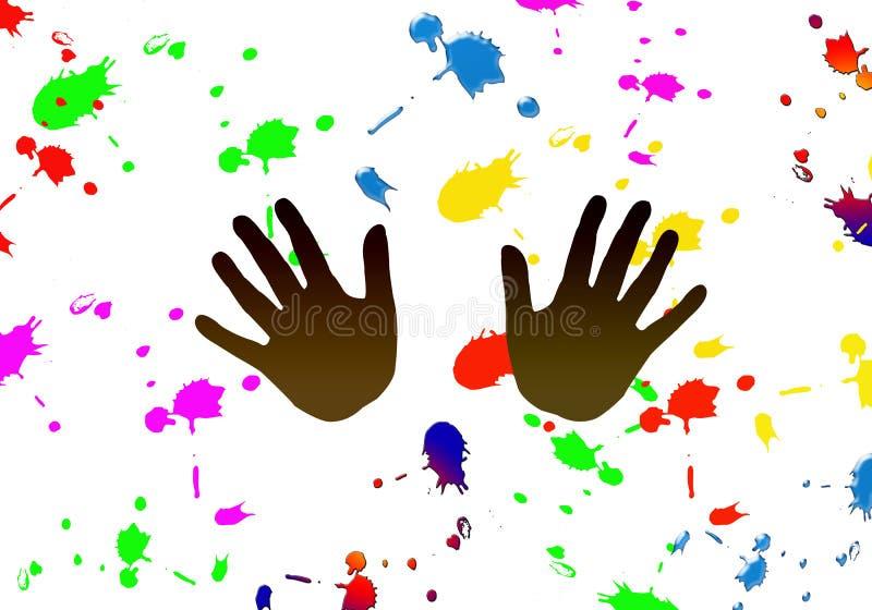 Πετάξτε το χρώμα απεικόνιση αποθεμάτων