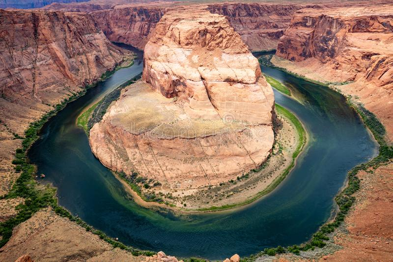 Πεταλοειδής κάμψη, μαίανδρος ποταμών του Κολοράντο, Αριζόνα Ηνωμένες Πολιτείες στοκ φωτογραφία με δικαίωμα ελεύθερης χρήσης