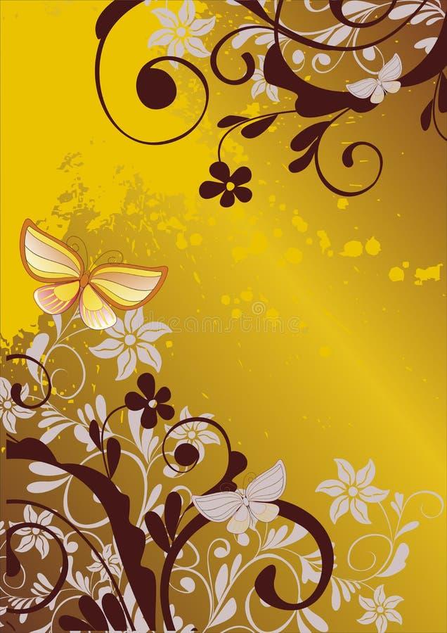 πεταλούδα ανασκόπησης floral διανυσματική απεικόνιση