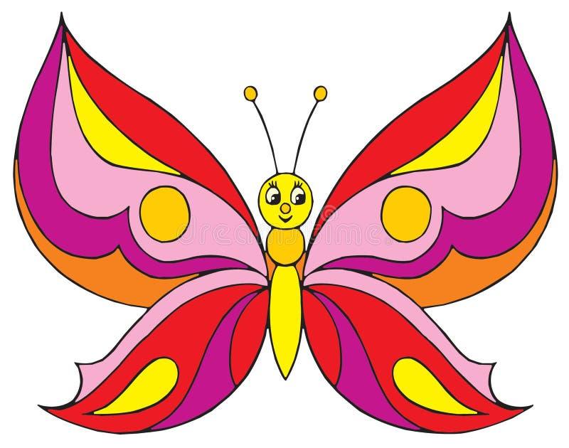 Πεταλούδα (διανυσματική συνδετήρας-τέχνη) διανυσματική απεικόνιση