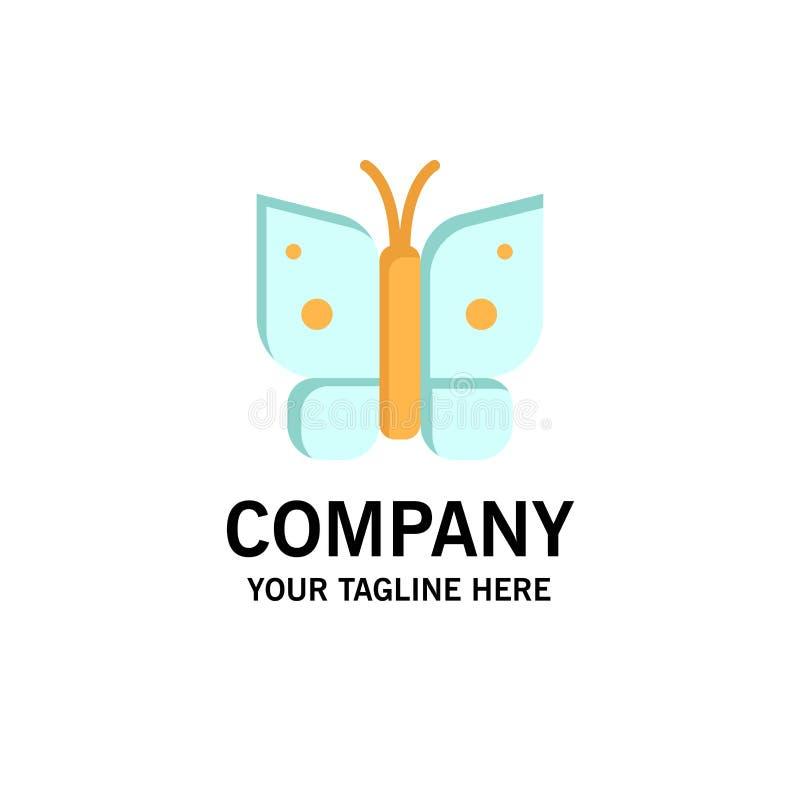 Πεταλούδα, ελευθερία, έντομο, πρότυπο επιχειρησιακών λογότυπων φτερών Επίπεδο χρώμα απεικόνιση αποθεμάτων