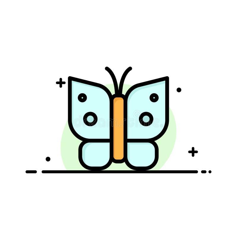 Πεταλούδα, ελευθερία, έντομο, φτερών πρότυπο εμβλημάτων επιχειρησιακών επίπεδο γεμισμένο γραμμή εικονιδίων διανυσματικό απεικόνιση αποθεμάτων