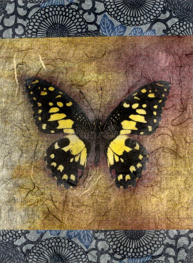 πεταλούδα κίτρινη διανυσματική απεικόνιση